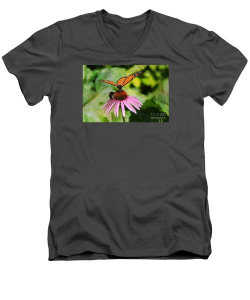 Under My Wing Men's V-Neck T-Shirt by Yumi Johnson