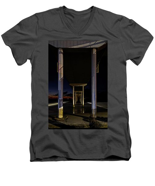 Under The Ocean Beach Pier At Sunste Men's V-Neck T-Shirt