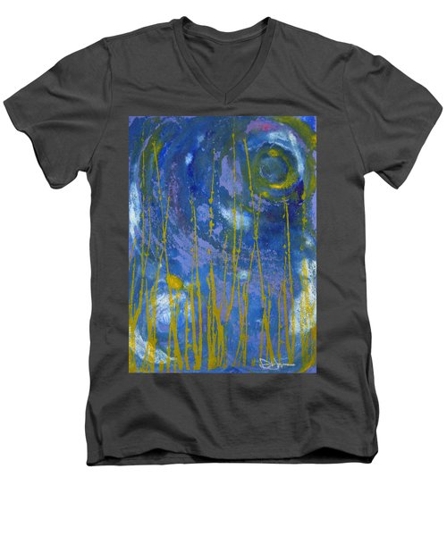 Men's V-Neck T-Shirt featuring the photograph Under The Ocean by Rachel Hames