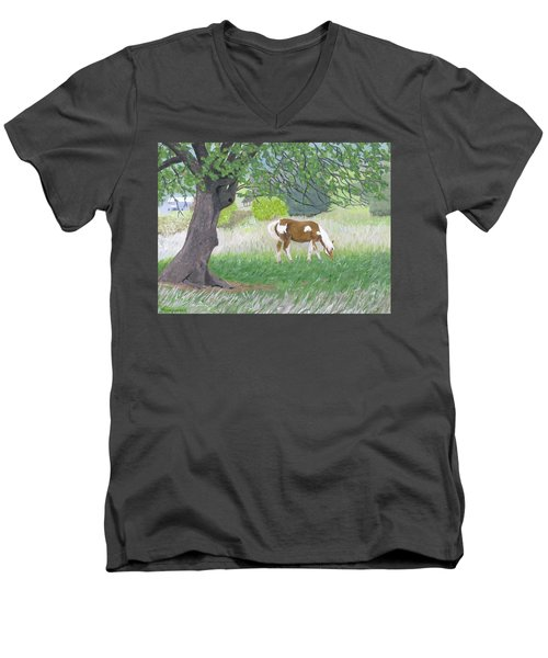 Under The Old Apple Tree Men's V-Neck T-Shirt