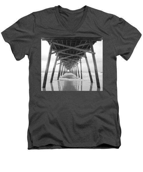 Under The Pier Men's V-Neck T-Shirt by Betty Buller Whitehead