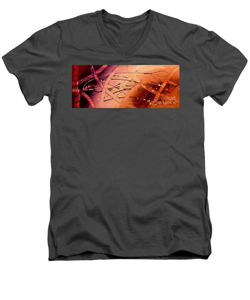 Under The Sea Abstract Modern Art By Saribelle Men's V-Neck T-Shirt by Saribelle Rodriguez