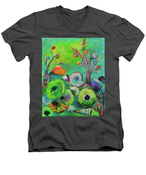 under the sea  - Orig painting for sale Men's V-Neck T-Shirt