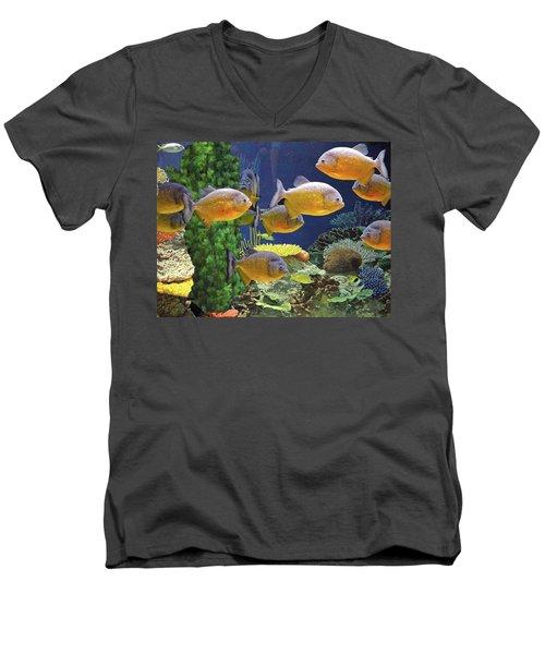 Under The Seen World 5 Men's V-Neck T-Shirt