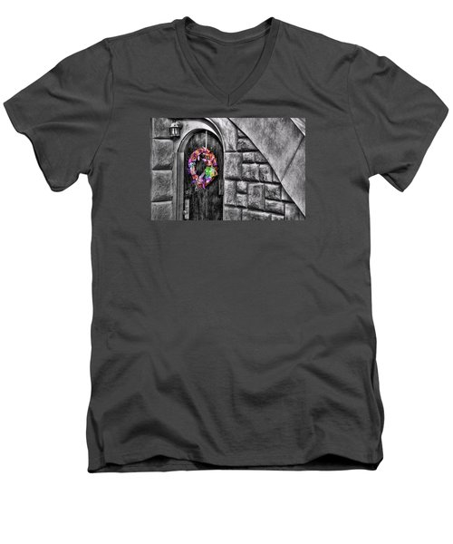 Under The Stairs Men's V-Neck T-Shirt by JAMART Photography