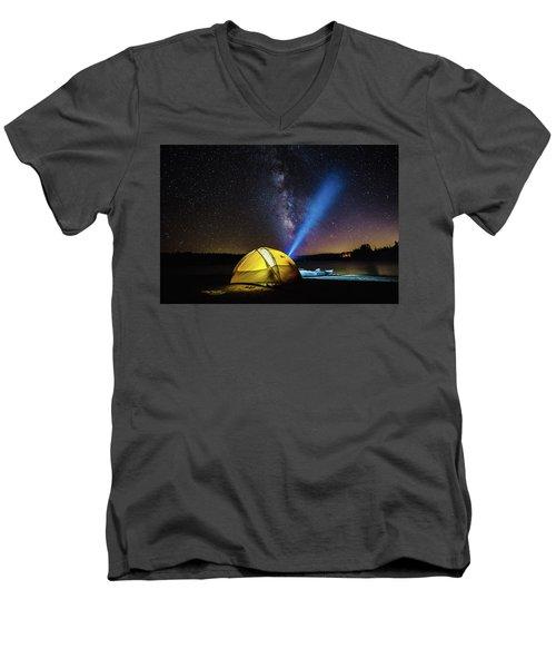 Under The Stars Men's V-Neck T-Shirt by Alpha Wanderlust