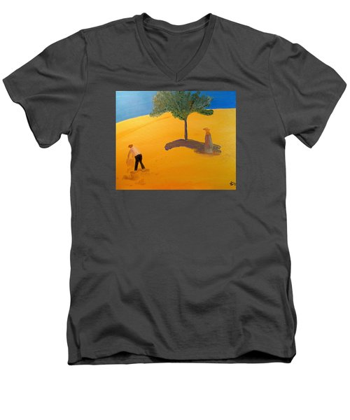 Under The Tuscan Sun Men's V-Neck T-Shirt by Bill OConnor