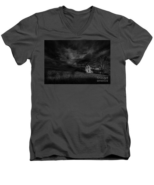 Under Threatening Skies Men's V-Neck T-Shirt