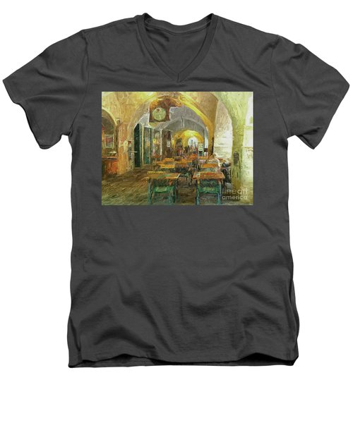 Underneath The Arches - Street Cafe, Prague Men's V-Neck T-Shirt