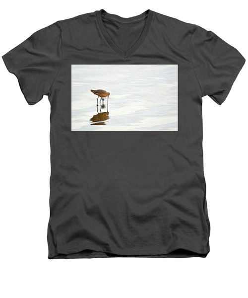 Men's V-Neck T-Shirt featuring the photograph Underpass by AJ Schibig