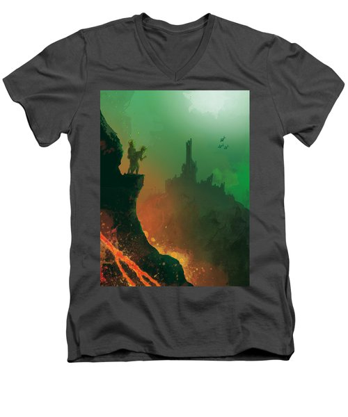 Undersea Volcano Men's V-Neck T-Shirt