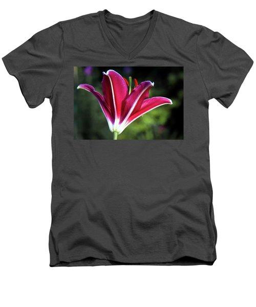Underside Of Asiatic Tiger Lily 1653 H_2 Men's V-Neck T-Shirt