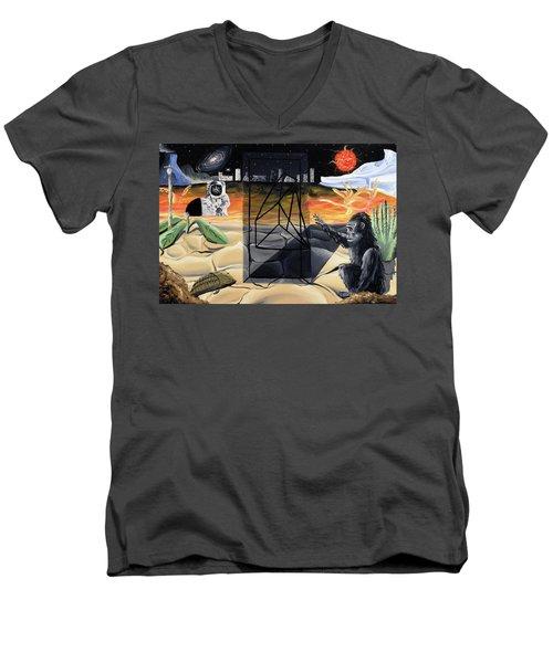Understanding Time Men's V-Neck T-Shirt by Ryan Demaree