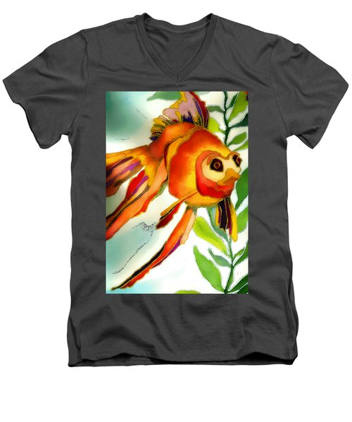 Underwater Fish Men's V-Neck T-Shirt by Lyn Chambers