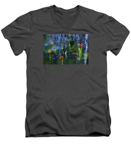 Underwater Lilies Men's V-Neck T-Shirt