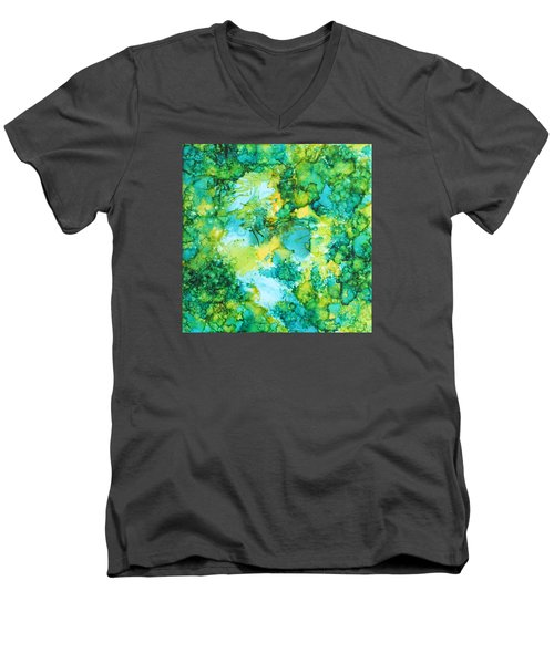 Underwater Map Men's V-Neck T-Shirt