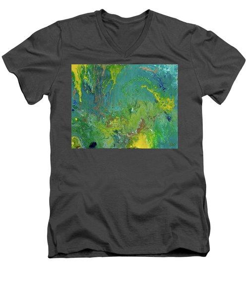 Underwater Paradise Men's V-Neck T-Shirt by Vicki Pelham