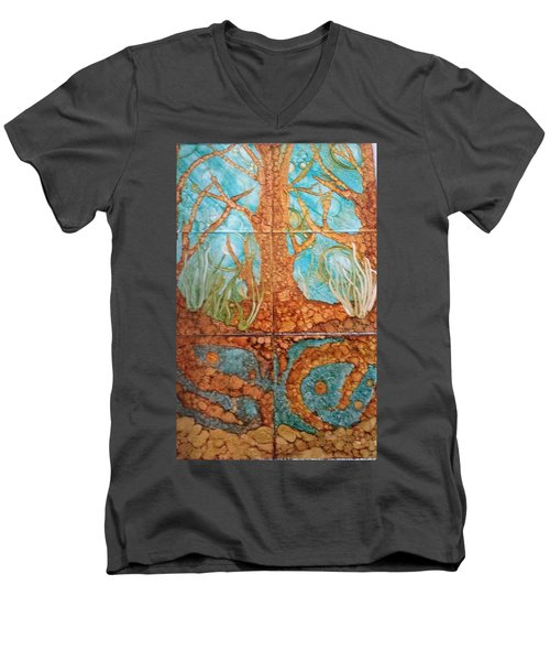 Underwater Trees Men's V-Neck T-Shirt