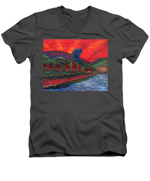 Undiscovered Great Ocean Of Truth Men's V-Neck T-Shirt by Vadim Levin