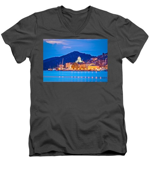Unesco Town Of Sibenik Blue Hour View Men's V-Neck T-Shirt