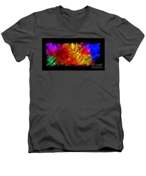 Men's V-Neck T-Shirt featuring the digital art Unfolding Dream by Rafael Salazar