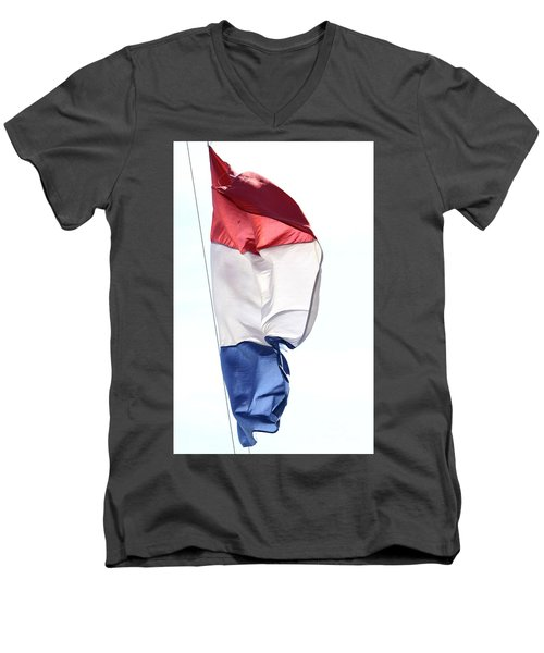 Men's V-Neck T-Shirt featuring the photograph Unfurl 01 by Stephen Mitchell