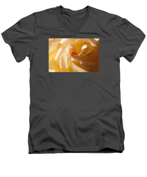 Unfurling Men's V-Neck T-Shirt by Christina Lihani