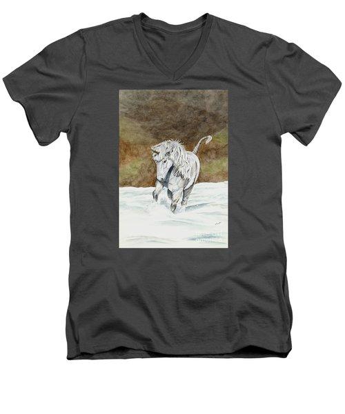Unicorn Icelandic Men's V-Neck T-Shirt by Shari Nees