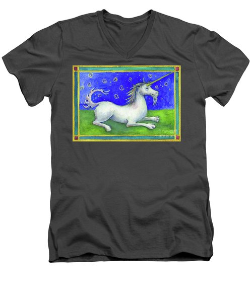 Unicorn Men's V-Neck T-Shirt