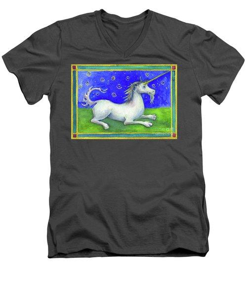 Unicorn Men's V-Neck T-Shirt