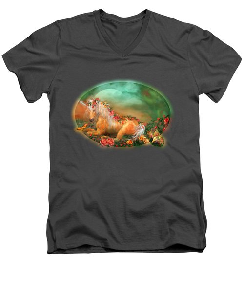 Unicorn Of The Roses Men's V-Neck T-Shirt