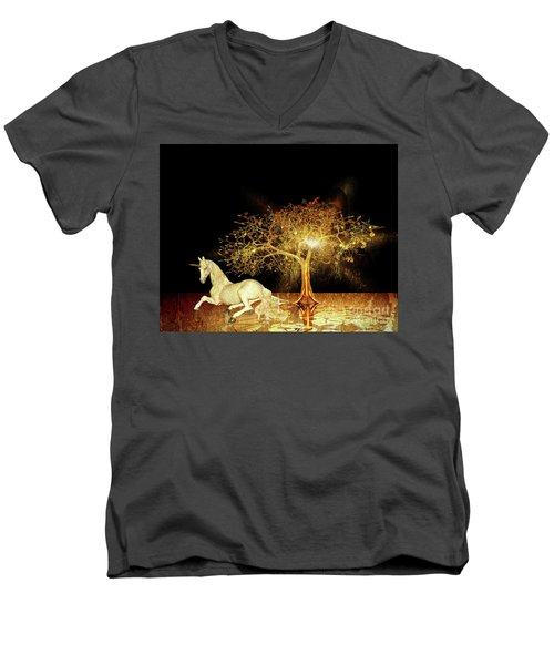 Unicorn Resting Series 1 Men's V-Neck T-Shirt
