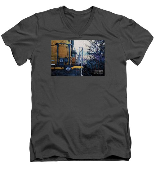 Union Pacific 1474 Men's V-Neck T-Shirt by David Blank