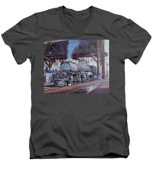 Union Pacific Big Boy Men's V-Neck T-Shirt by Mike  Jeffries
