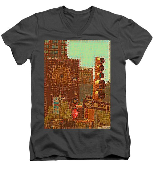 Union Square Bubbles Men's V-Neck T-Shirt