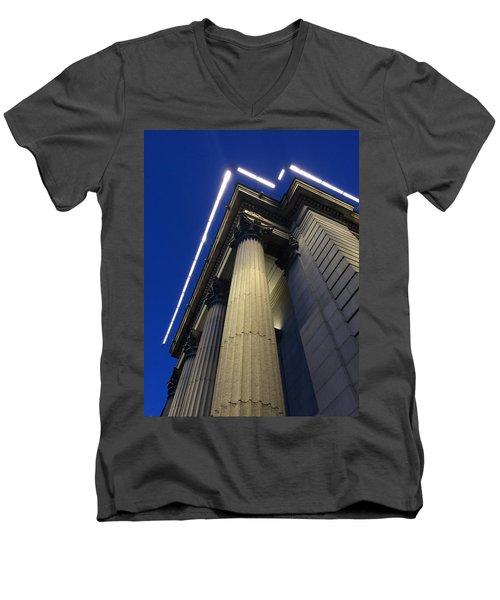 Union Square Savings Bank Men's V-Neck T-Shirt by Sandy Taylor