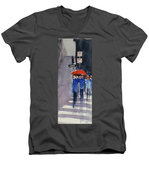 Union Square2 Men's V-Neck T-Shirt by Tom Simmons