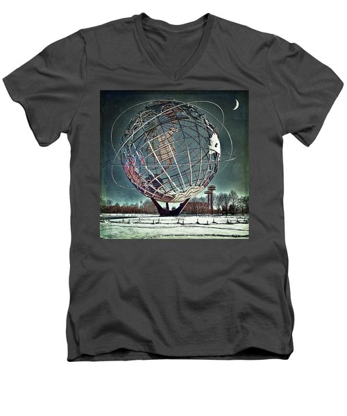 Unisphere Men's V-Neck T-Shirt