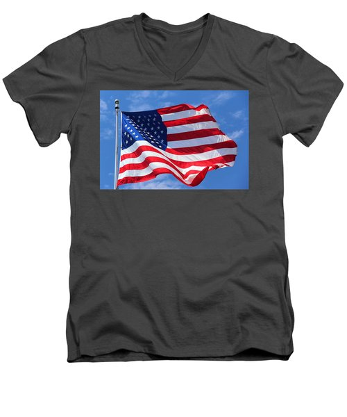 United States Flag Men's V-Neck T-Shirt