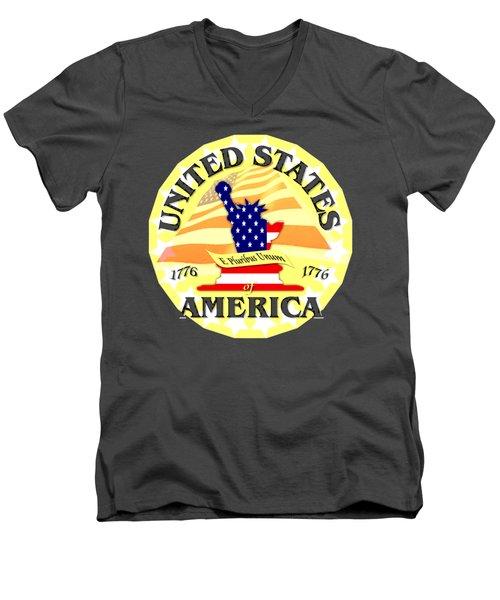 United States Of America Design Men's V-Neck T-Shirt