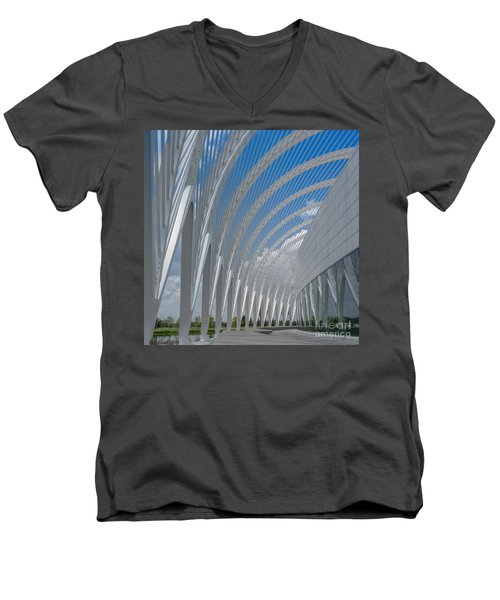 University Arching Lines Men's V-Neck T-Shirt