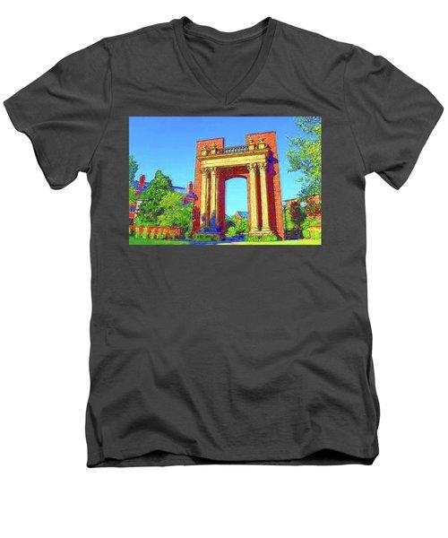 University Of Illinois  Men's V-Neck T-Shirt