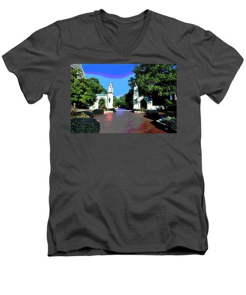 University Of Indiana Men's V-Neck T-Shirt
