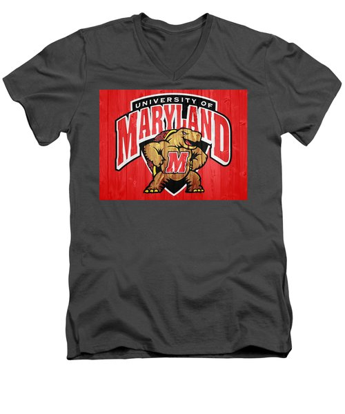 University Of Maryland Barn Door Men's V-Neck T-Shirt