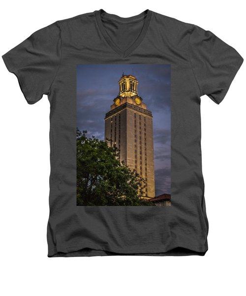 University Of Texas Tower Men's V-Neck T-Shirt