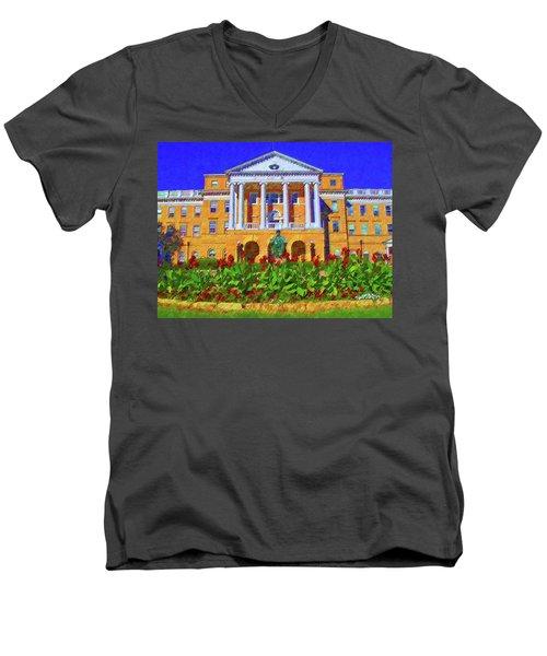 University Of Wisconsin  Men's V-Neck T-Shirt
