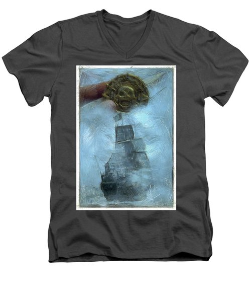 Unnatural Fog Men's V-Neck T-Shirt by Benjamin Dean