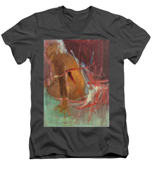 Unquiet Men's V-Neck T-Shirt by Daun Soden-Greene