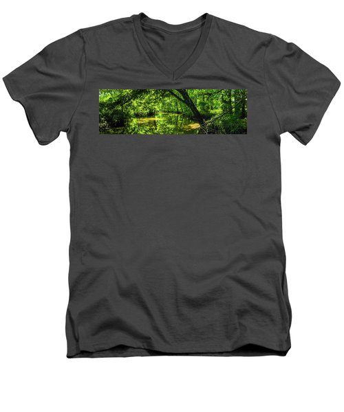 Unseen Critters Of The Lost Bayou Men's V-Neck T-Shirt by Kimo Fernandez
