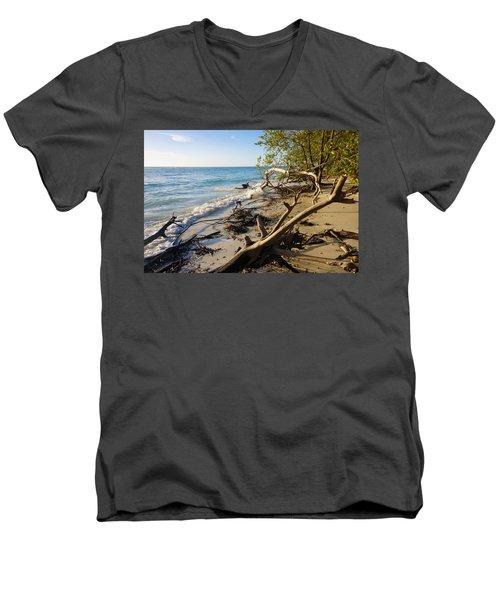The Unspoiled Beaty Of Barefoot Beach Preserve In Naples, Fl Men's V-Neck T-Shirt
